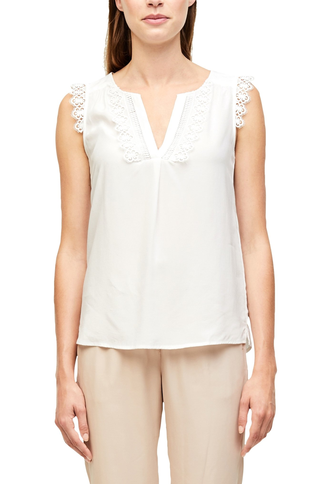s.Oliver BLACK LABEL ÄRMELLOS - Blouse - white - Dameskleding Klassiek
