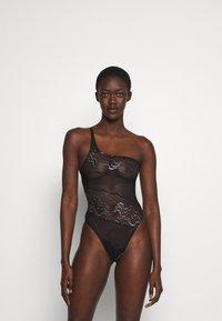 Coco de Mer - KATHARINE BODYSUIT - Body - black/silver-coloured - 0