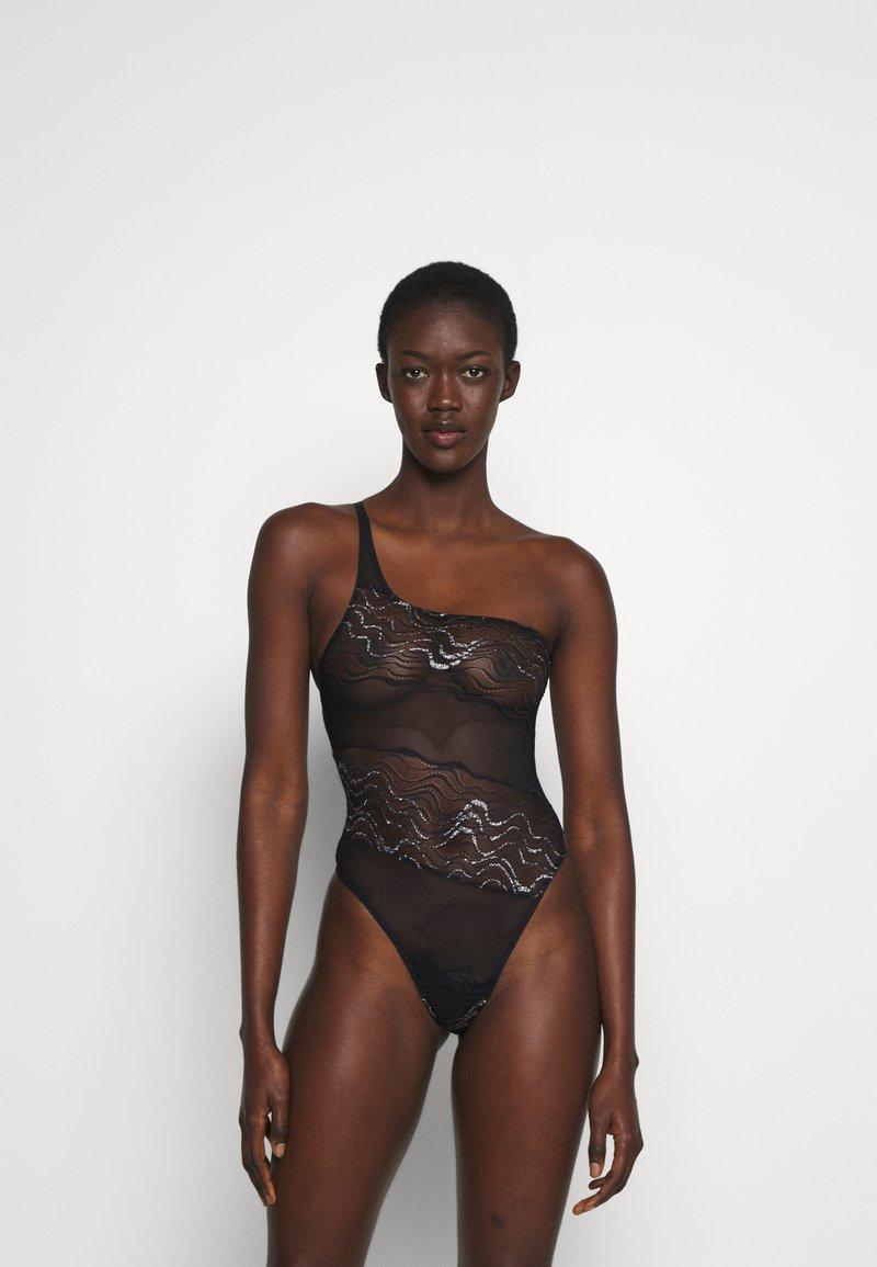 Coco de Mer - KATHARINE BODYSUIT - Body - black/silver-coloured