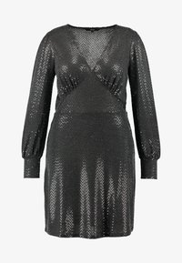 Vero Moda Curve - VMDARLING SHORT DRESS - Vestito elegante - black/silver - 5