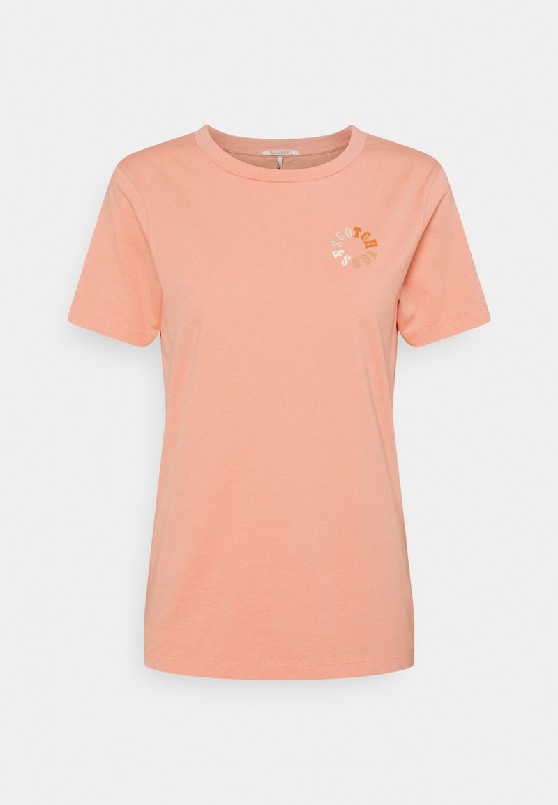 Scotch & Soda - CREW NECK TEE - T-shirt basic - flamingo pink