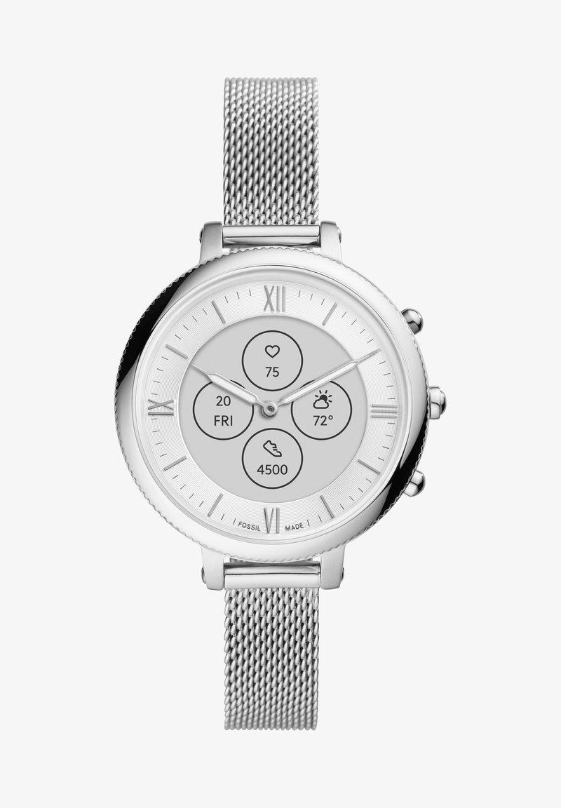 Fossil Smartwatches - MONROE HYBRID HR - Smartwatch - silver