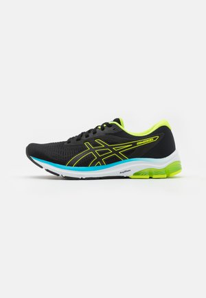 GEL-PULSE 12 - Neutral running shoes - black/hazard green