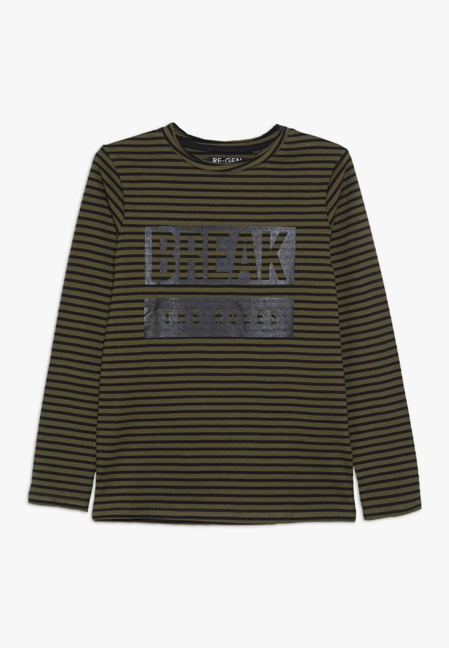 BOYS LONGSLEEVE - Long sleeved top - olive night