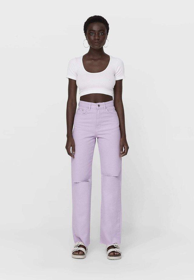 Džíny Straight Fit - purple