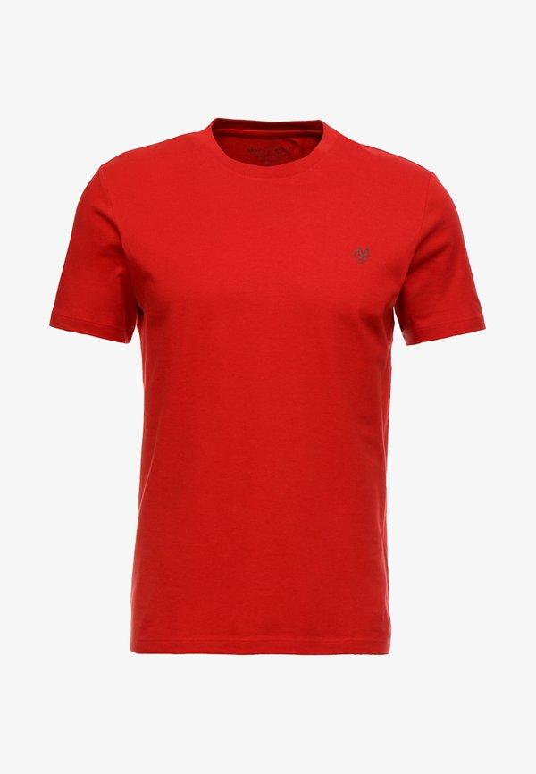Marc O'Polo SHORT SLEEVE ROUND NECK - T-shirt basic - pompeian red/ciemnoczerwony Odzież Męska LGJN