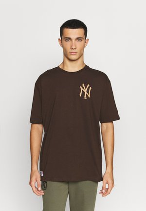 MLB NEW YORK YANKEES OVERSIZED SEASONAL COLOUR  - Klubové oblečení - midnight brown