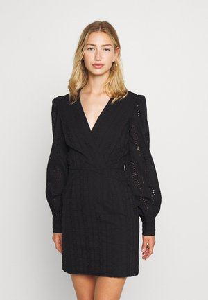 CROCHET DRESS - Day dress - black