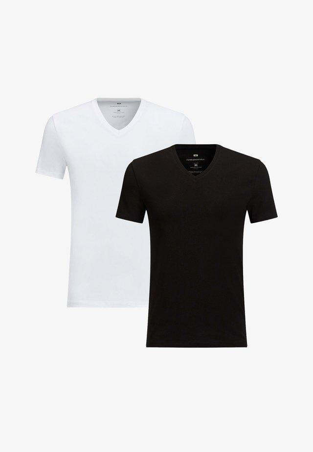 2-PACK - T-shirt basic - black/white