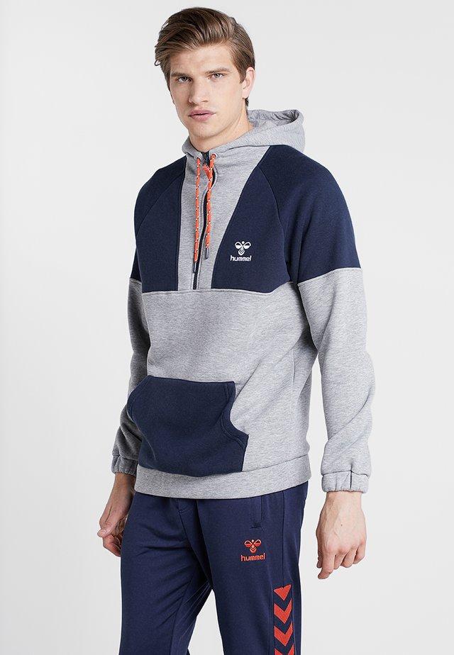 HMLDOME HOODIE - Jersey con capucha - grey melange