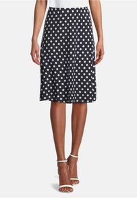 Betty Barclay - MIT PUNKTEN - A-line skirt - dunkelblau/weiß - 0
