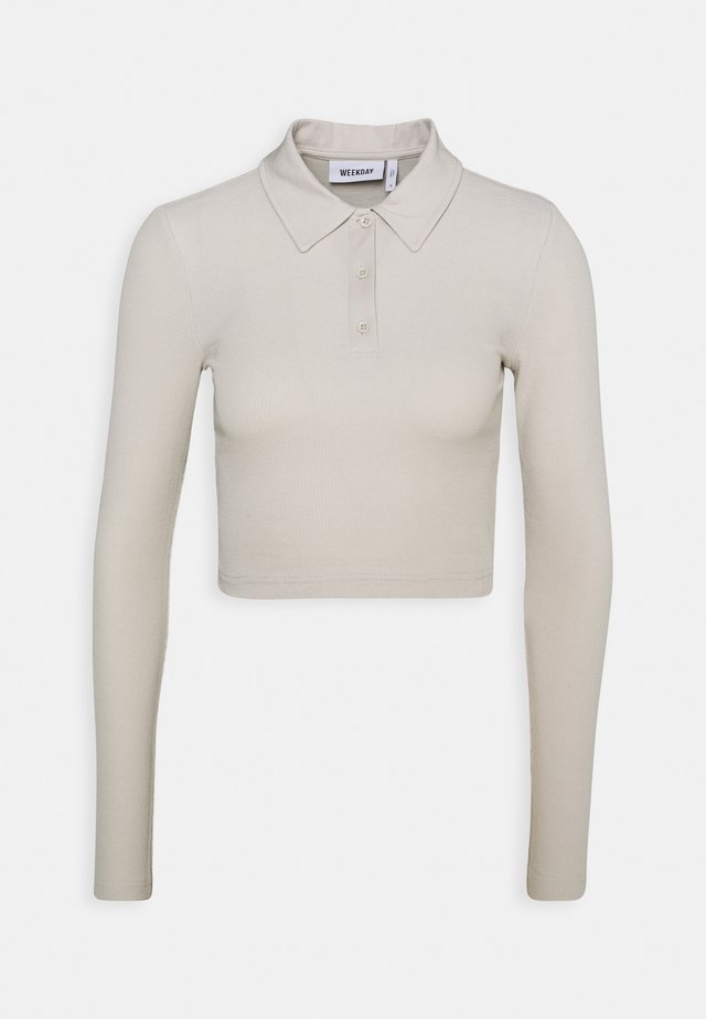 ERIN LONG SLEEVE - Polo shirt - beige