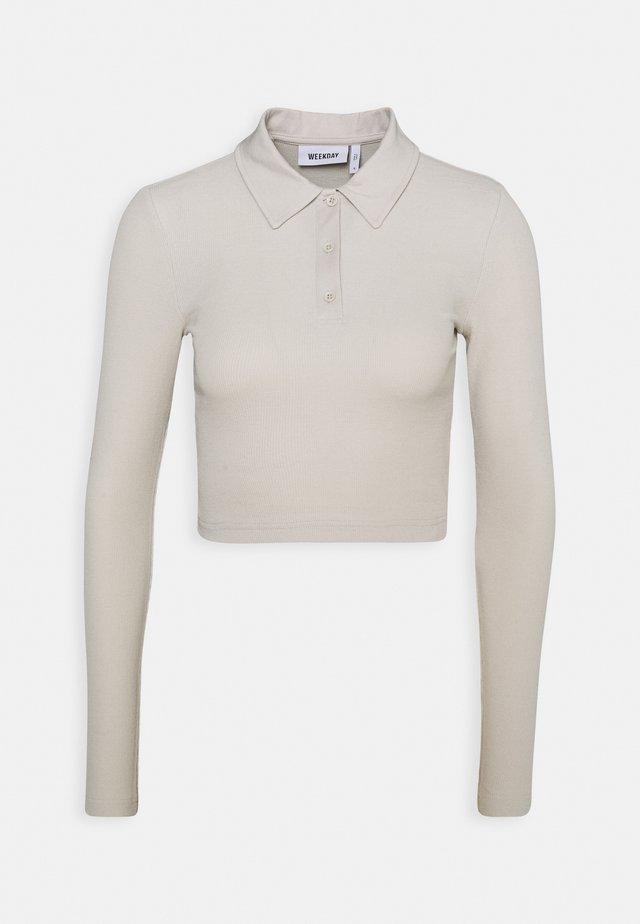 ERIN LONG SLEEVE - Poloshirt - beige