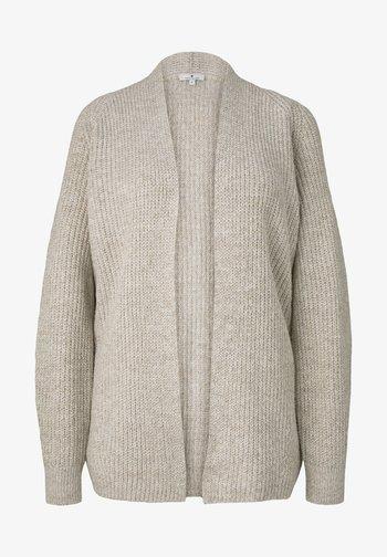 Cardigan - light warm beige melange