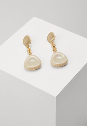 NATURAL CHAIN LINK DROPS - Earrings - cream