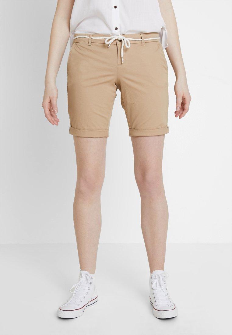 ONLY - ONLPARIS BELT - Szorty - light brown