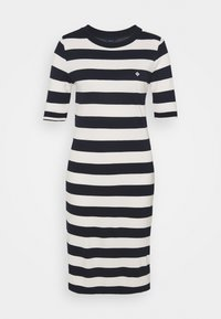 GANT - BAR STRIPED DRESS - Jerseykjole - evening blue - 4