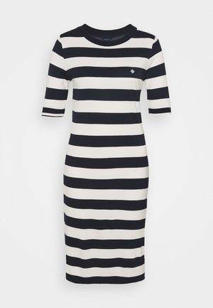 BAR STRIPED DRESS - Jersey dress - evening blue