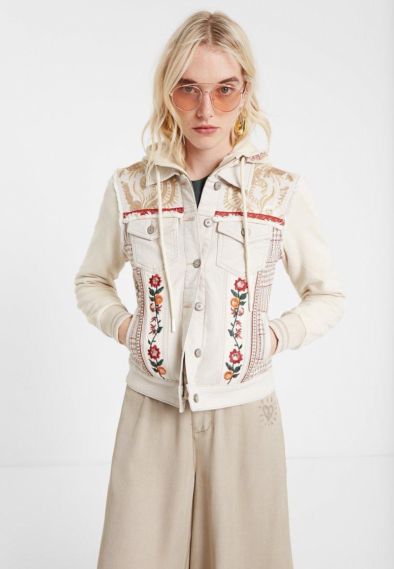 Desigual - ERICA - Denim jacket - white
