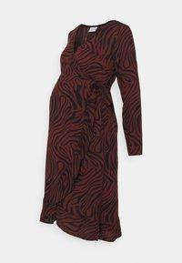 MAMALICIOUS - MLZEBRA  - Jersey dress - black/like zebra - 0