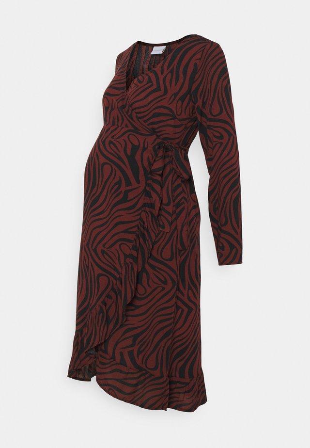 NURSING DRESS - Jerseyjurk - black/like zebra
