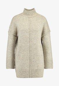 ONLY - ONLELAINA LONG - Stickad tröja - simply taupe melange - 5