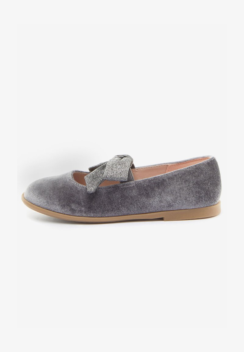 Next - MARY JANE - Ankle strap ballet pumps - grey