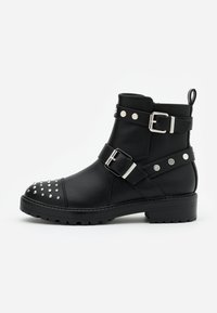 ONLY SHOES - ONLBAD STUD BOOT  - Cowboy/biker ankle boot - black - 1