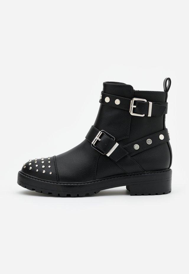 ONLBAD STUD BOOT  - Kovbojské/motorkářské boty - black