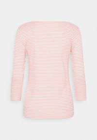 TOM TAILOR - STRIPE BOAT NECK - Long sleeved top - white peach - 1