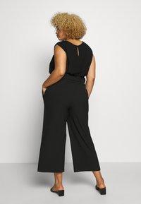 ONLY Carmakoma - CARICOLE CULOTTE WIDE PANTS - Bukse - black - 2