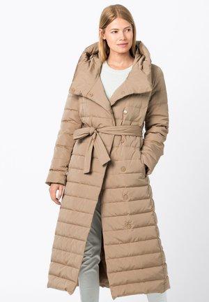 Down coat - camel