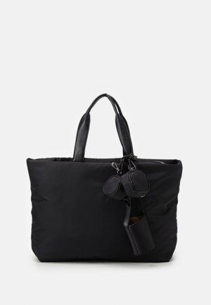 MULTI POCKET TOTE SET - Bolso shopping - black