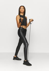 South Beach - SHINE WAIST LEGGING - Leggings - black