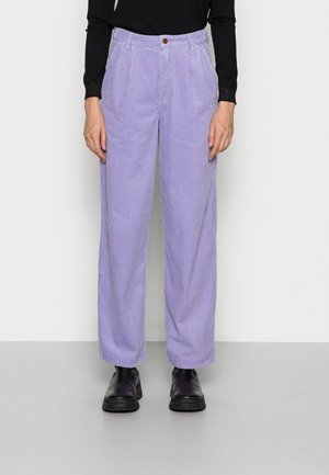 PLEATED BARREL - Trousers - lilac