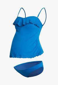 Cache Coeur - BLOOM SET - Bikini - retro blue