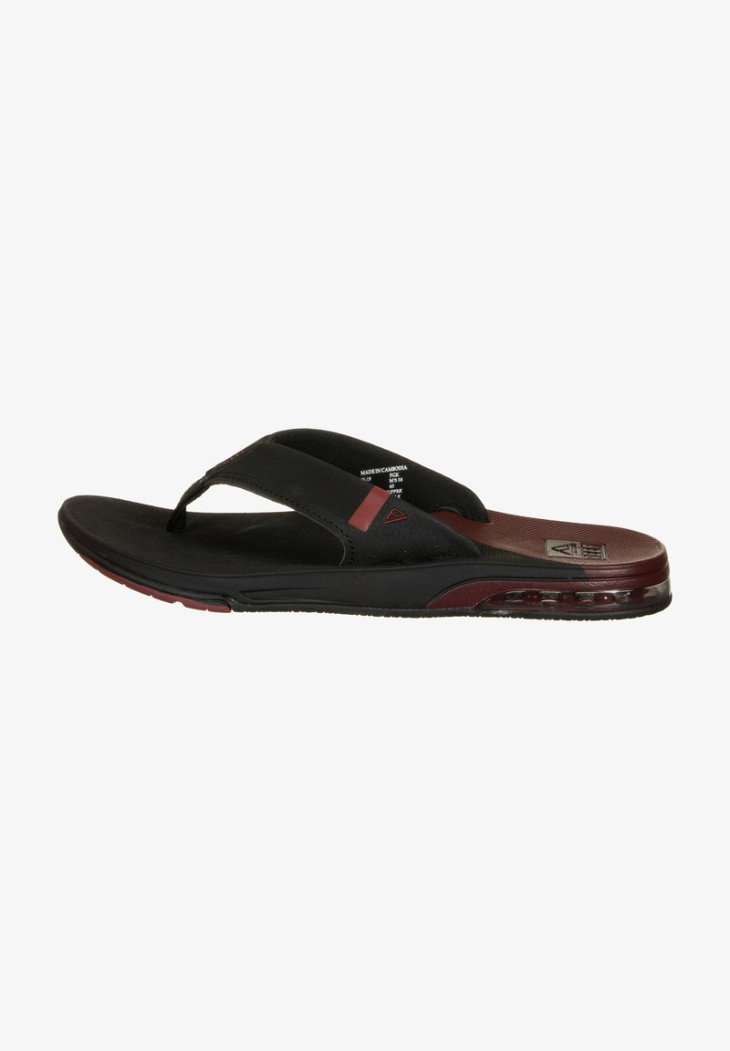 Reef - T-bar sandals - black /mrust fanning low