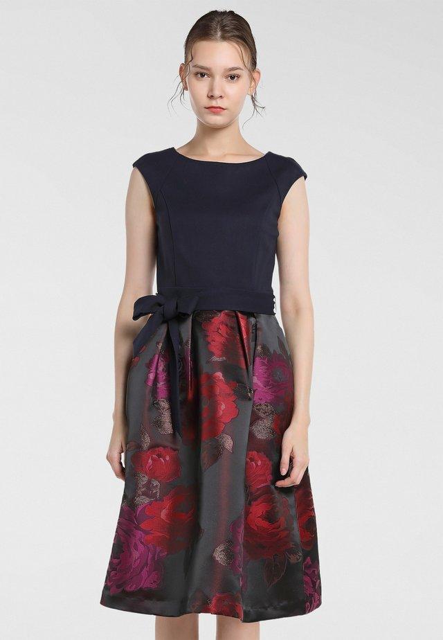 Vestito elegante - bordeaux-multicolor