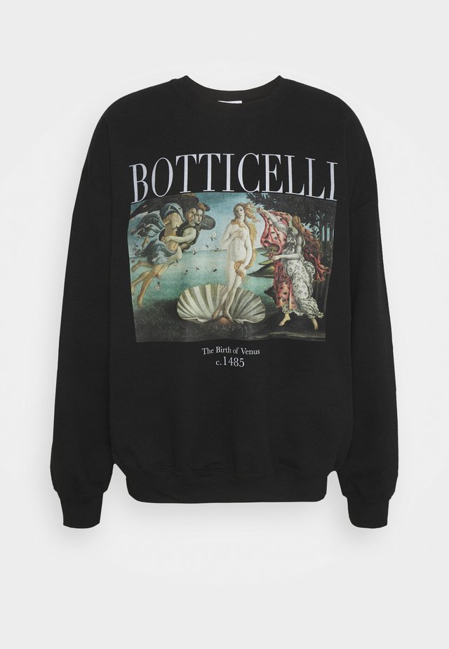 BOTTICELLI ART PRINT - Sweatshirt - black