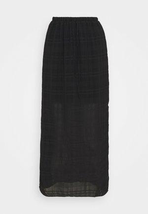 HIGH WAISTED MIDI SKIRT WITH SIDE SPLIT - Áčková sukně - black
