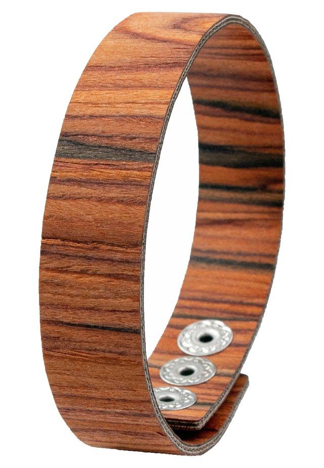 LAIMER WICKEL-ARMBAND AUS ROSENHOLZ - S1116 - Armband - brown