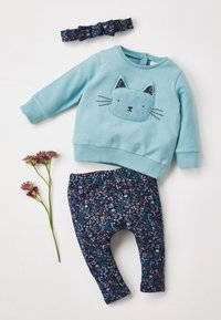 Next - CHARACTER/FLORAL SWEAT TOP, LEGGINGS AND HEADBAND - Sweatshirt - blue - 7