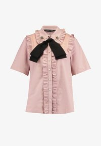Sister Jane - TESTUDO BOW BLOUSE SHORT SLEEVE EXCLUSIVE - Button-down blouse - pink - 4