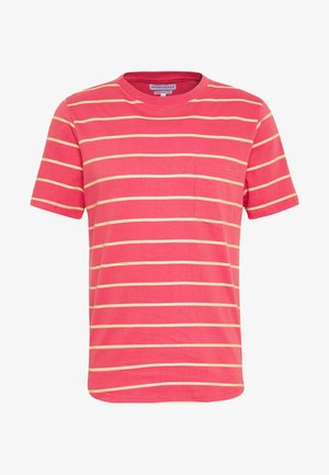 STRIPED - Print T-shirt - orange