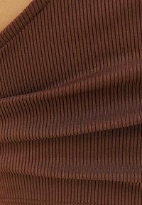 Bershka - Top - brown - 4