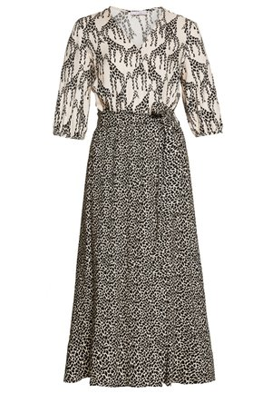 Day dress - ivory patterned