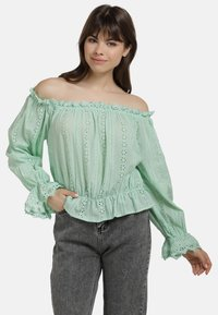 myMo - BLUSE - Blouse - mint - 0