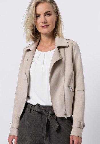 ALCANTARA - Faux leather jacket - cream