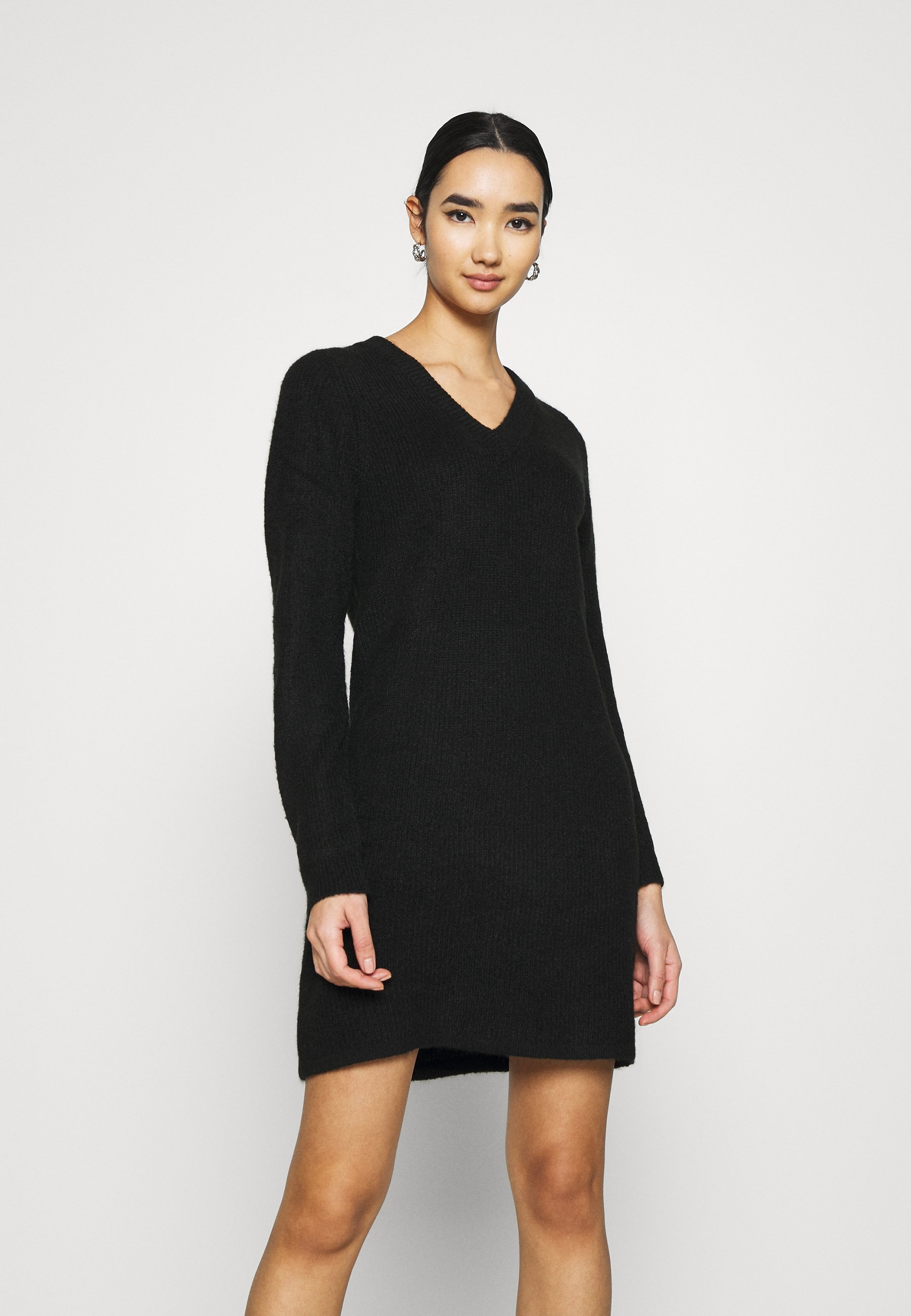 Mujer PCELLEN V NECK DRESS - Vestido de punto