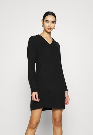PCELLEN V NECK DRESS - Robe pull - black